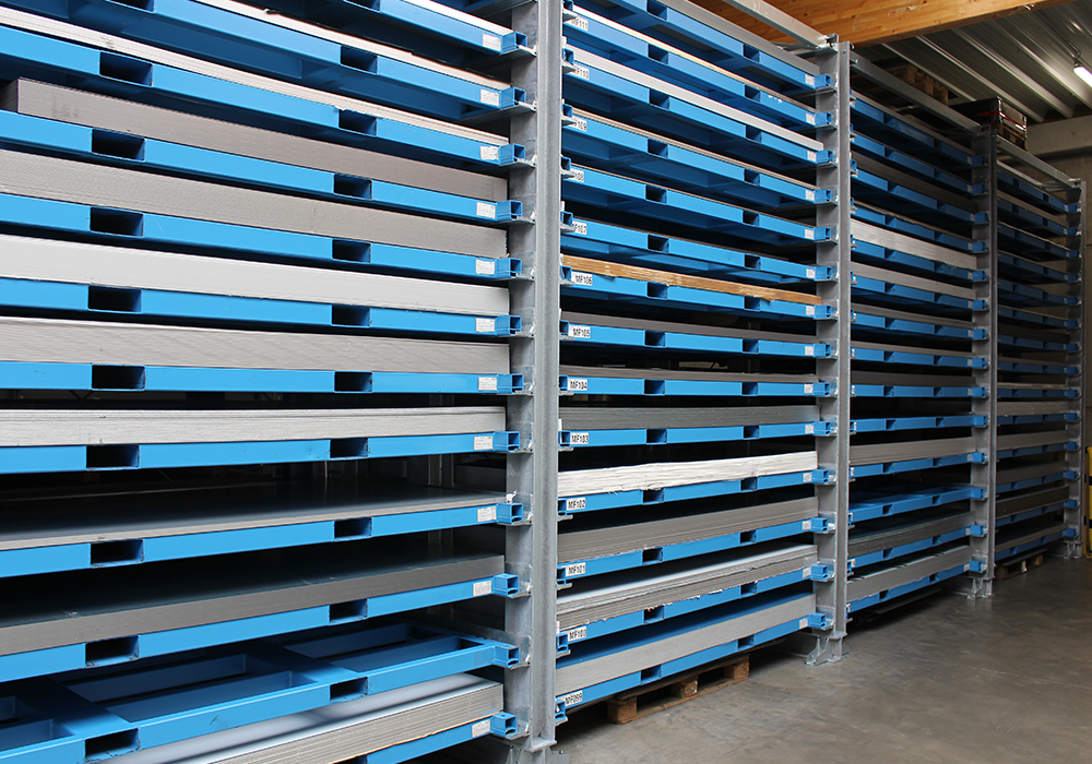Different loading heights, also for flexible use in Böckelt sheet metal storage system