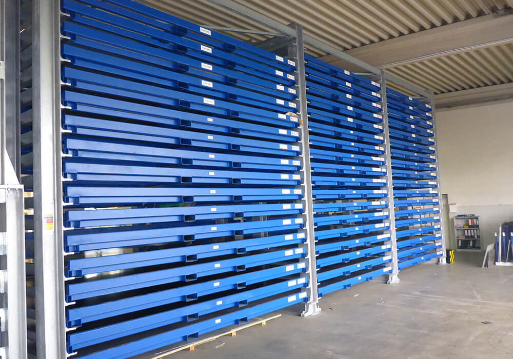Storage system for remnant sheets with management software