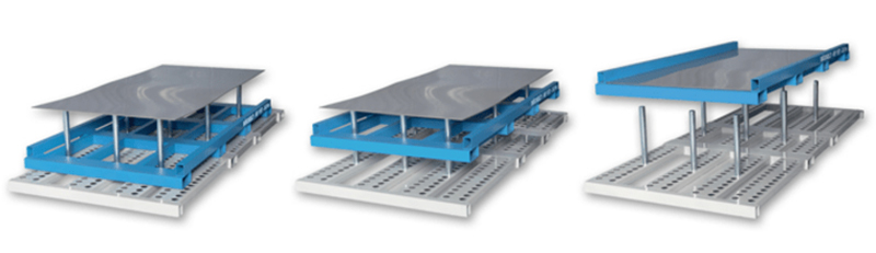 Quick depalletising of metal sheet packages with depalletiser of sheet metal storage system