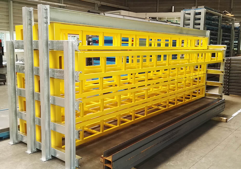 Long goods racks and storage systems in Austria, Germany, and Switzerland