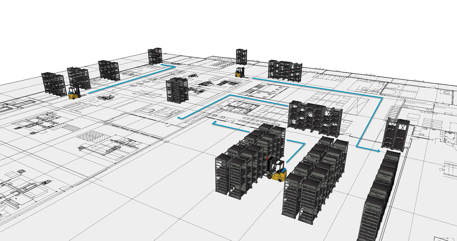 Dynamic heavy duty storage system for product and batch tracking with storage management software
